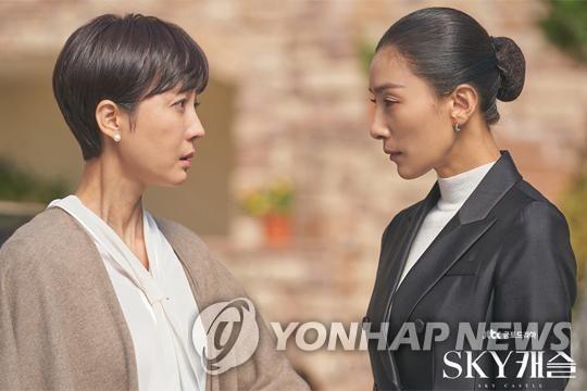 《天空之城》剧照(JTBC供图)