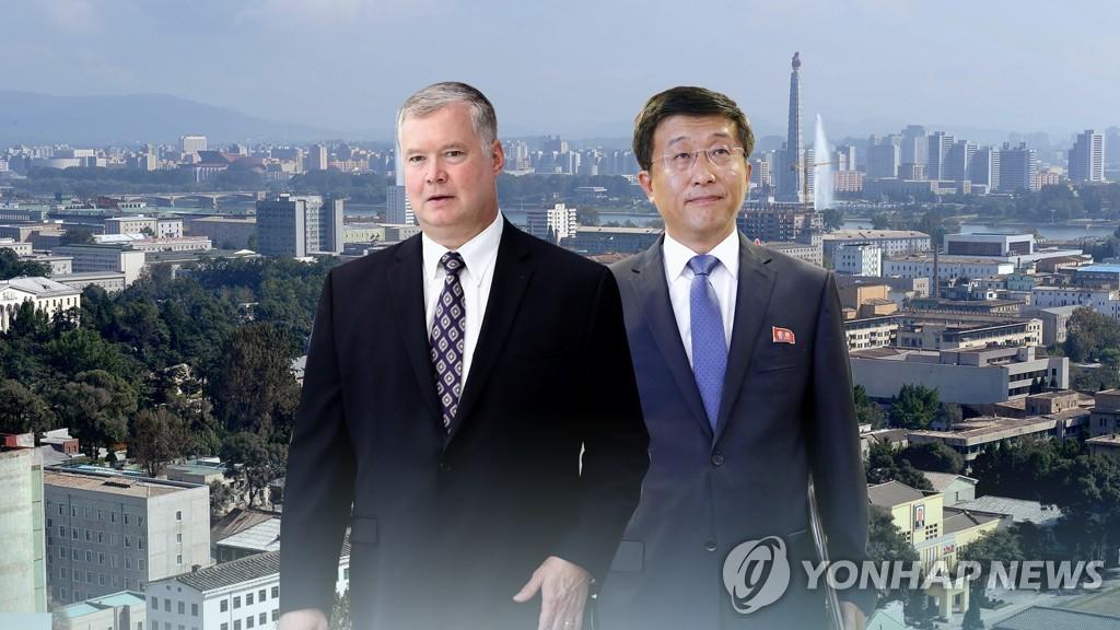 左为比根,右为金赫哲。(韩联社/韩联社TV供图)