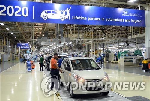 现代汽车印度金奈工厂暂停生产
