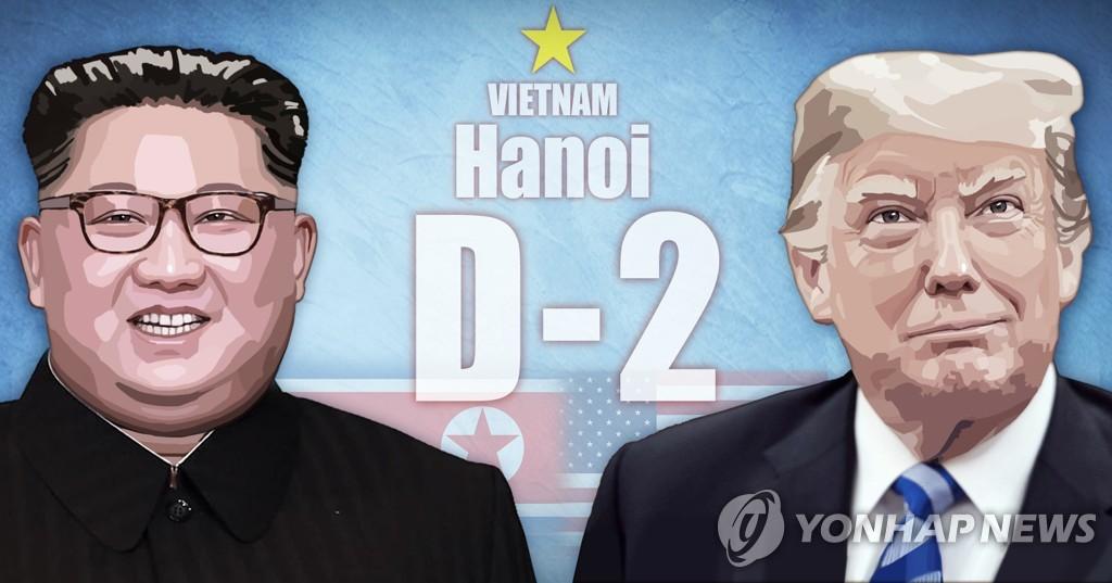 资料图片:金正恩(左)和特朗普(韩联社)