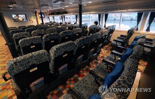 2019年下半年釜山至日本轮渡乘客减八成