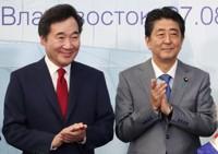 韩国总理李洛渊24日会见日本首相安倍晋三