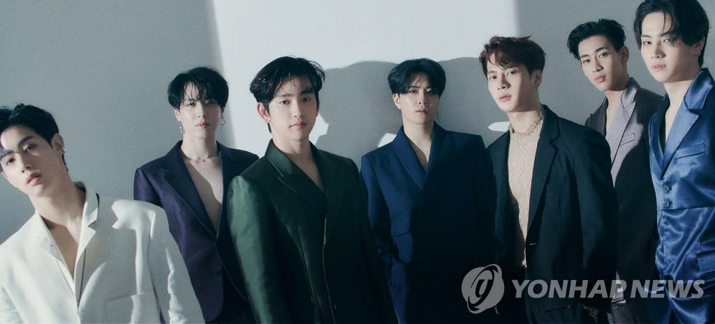 男团GOT7 韩联社/JYP供图