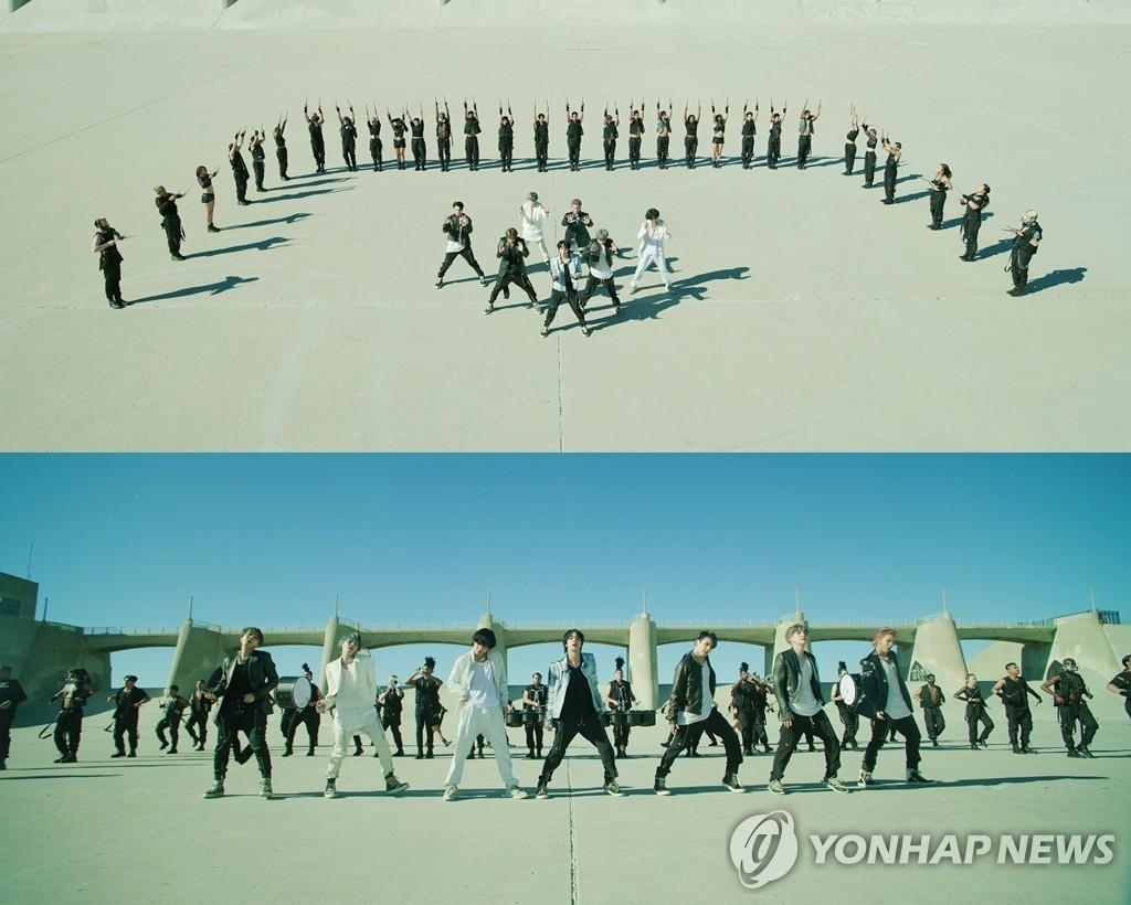 防弹少年团《ON》首版MV截图 韩联社/Big Hit娱乐供图(图片严禁转载复制)