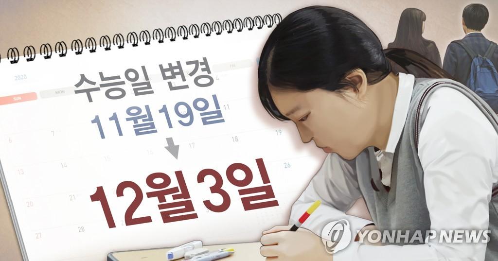 韩国敲定高校招录日程 高考延至12月3日举行
