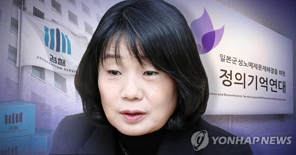 """资料图片:""""正义记忆连带""""前负责人尹美香 韩联社"""
