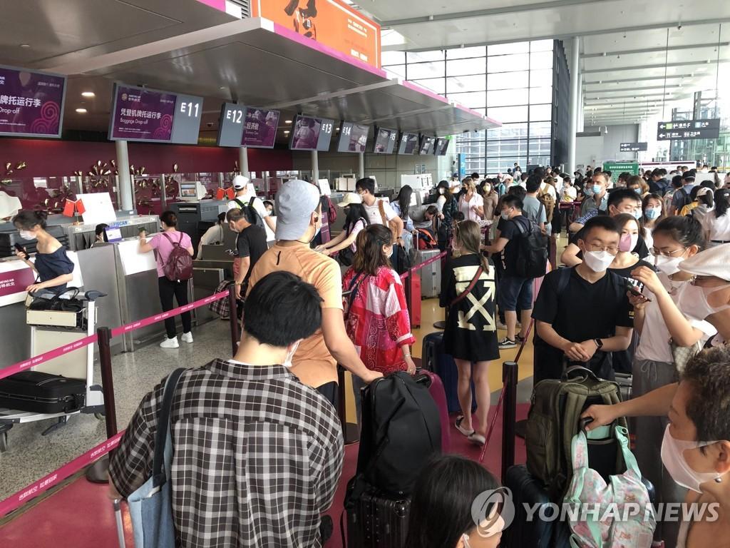 资料图片:上海虹桥机场 韩联社