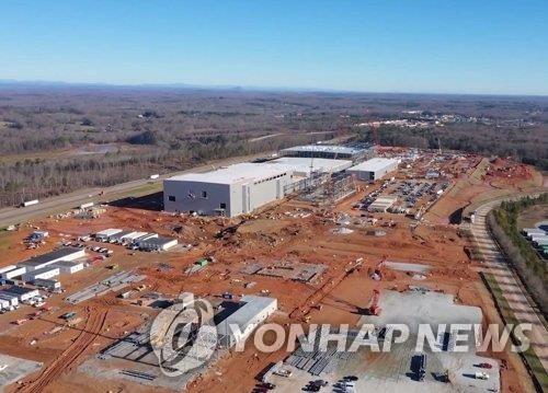 SK创新设于美国乔治亚州的电池厂 SK创新供图(图片严禁转载复制)