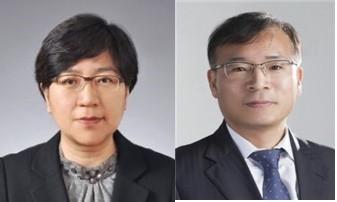 资料图片:郑银敬(左)和姜都泰 韩联社/青瓦台供图(图片严禁转载复制)