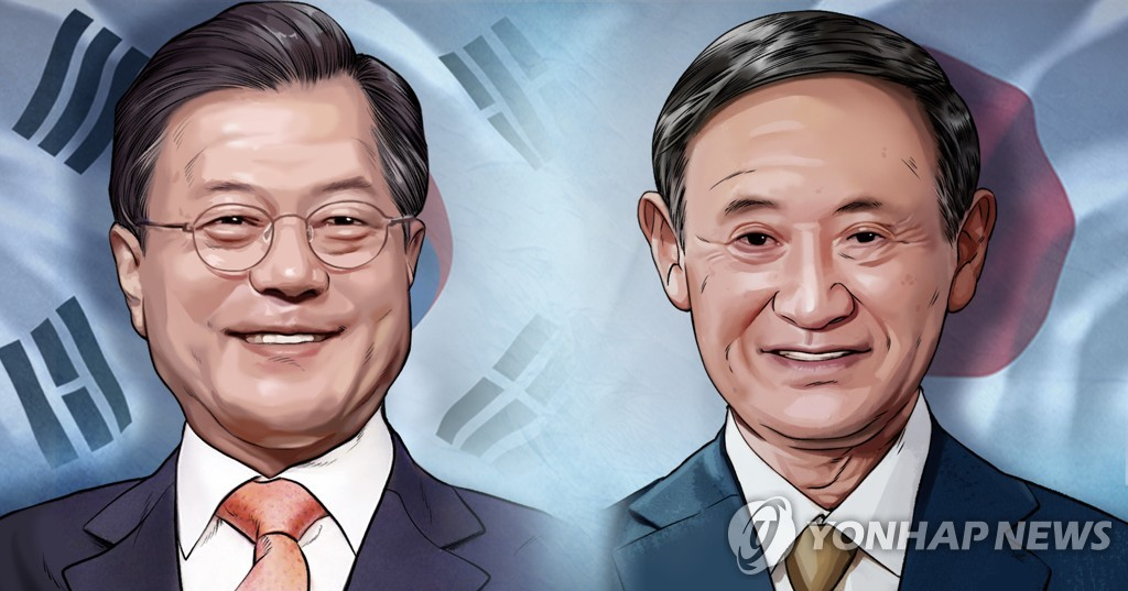 文在寅致函祝贺菅义伟当选日本首相