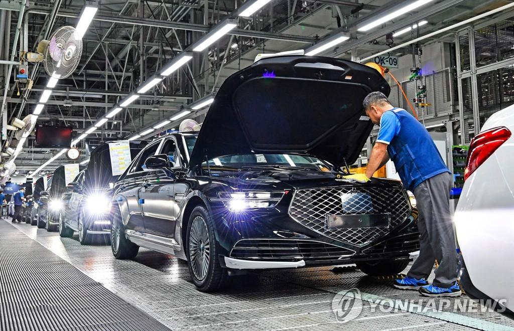 资料图片:现代汽车捷尼赛思生产线 现代汽车供图(图片严禁转载复制)