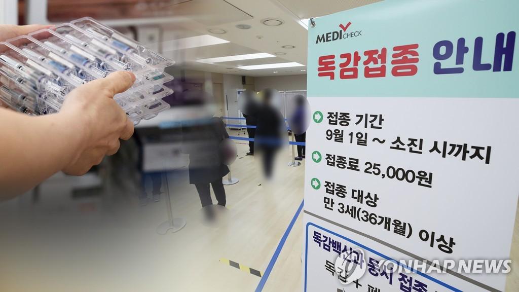 资料图片:流感疫苗接种通知 韩联社