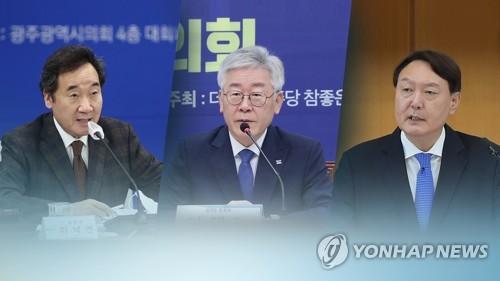 民调:韩下届总统人选民望李在明25%尹锡悦24%