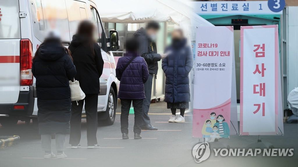 资料图片:筛查诊所 韩联社TV供图
