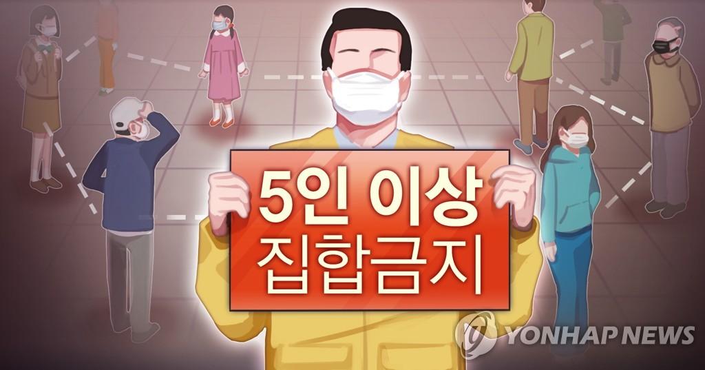 韩国首都圈23日起禁止5人以上聚会