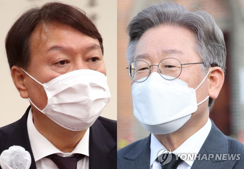 民调:韩总统人选民望李在明大幅领先尹锡悦