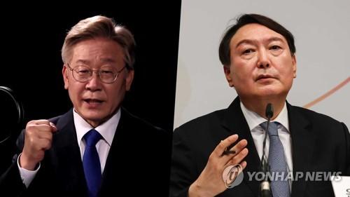 民调:韩总统人选民望李在明28.3%尹锡悦28%
