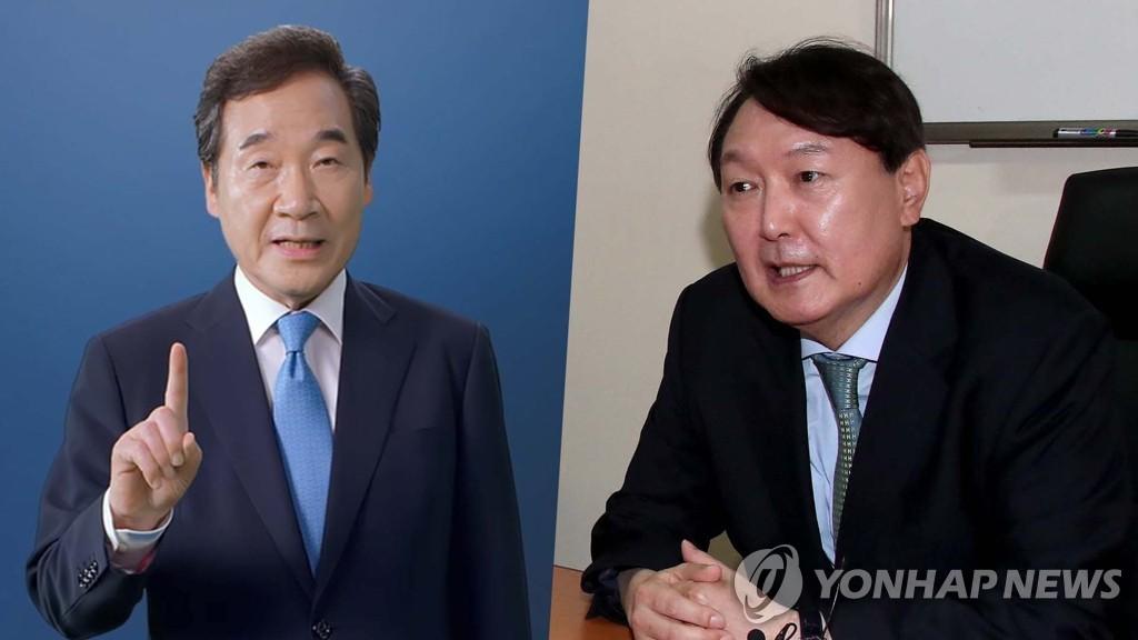 民调:韩总统人选民望李洛渊首次力压尹锡悦