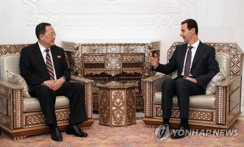 朝鲜外相李容浩拜会叙利亚总统巴沙尔