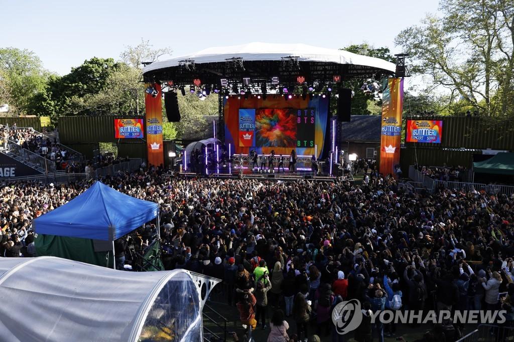 GMA夏日音乐节现场照(韩联社/合众社)