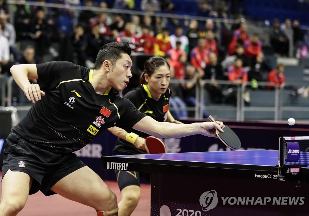 釜山世乒赛前韩中两队将合训