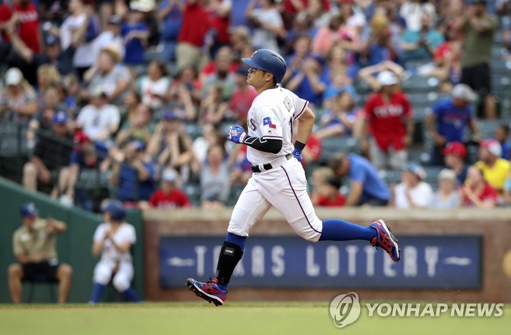 秋信守打出美职棒大联盟生涯第200支本垒打