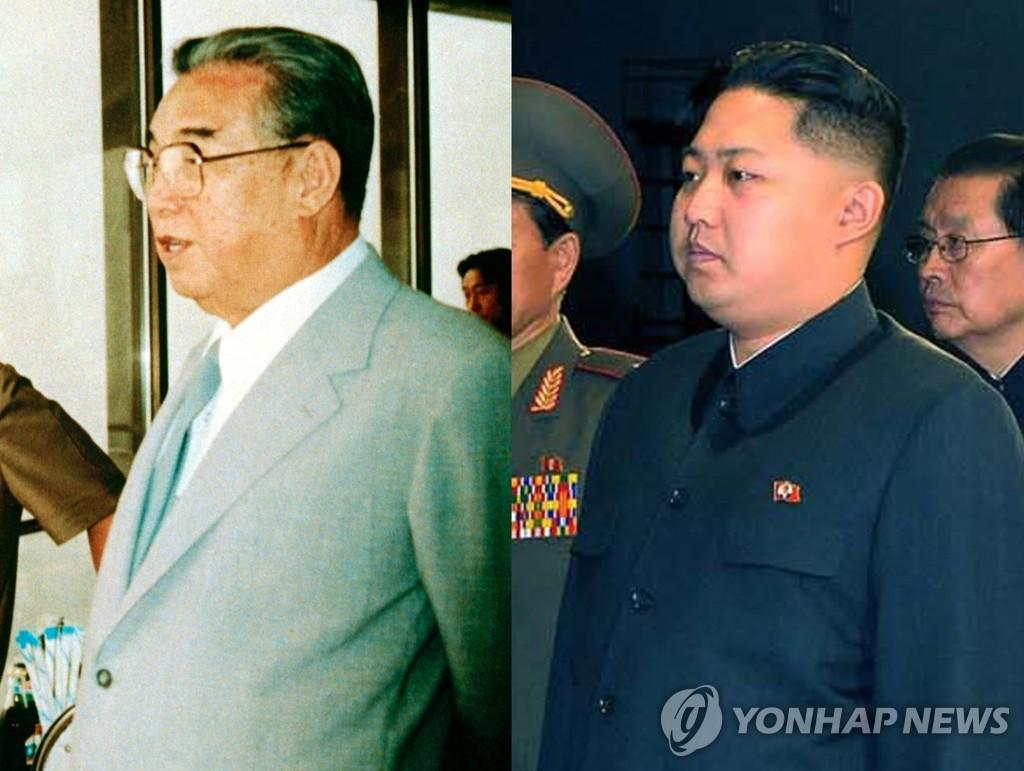 金正恩2010年10月的中山装扮相与祖父金成日形神兼似。 韩联社