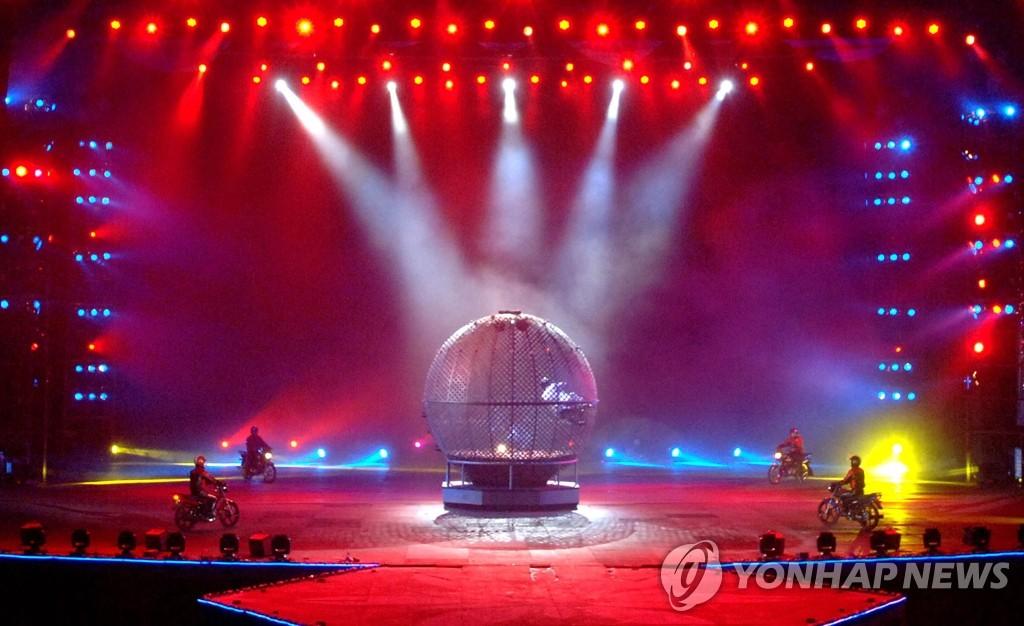 朝鲜推出大型魔术表演