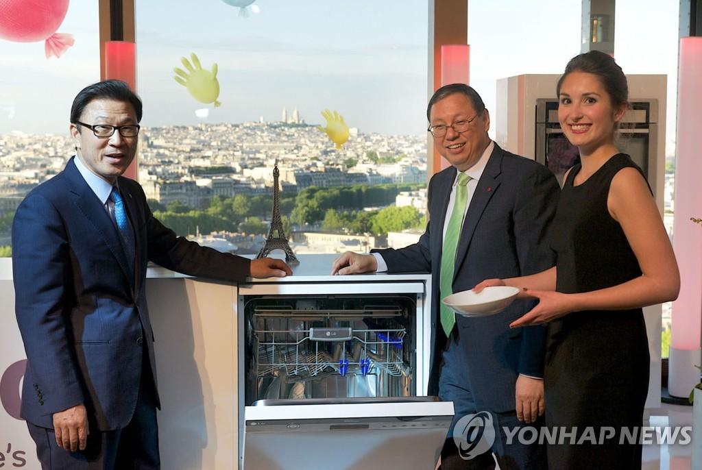 LG电子在欧洲推介新款洗衣机和洗碗机