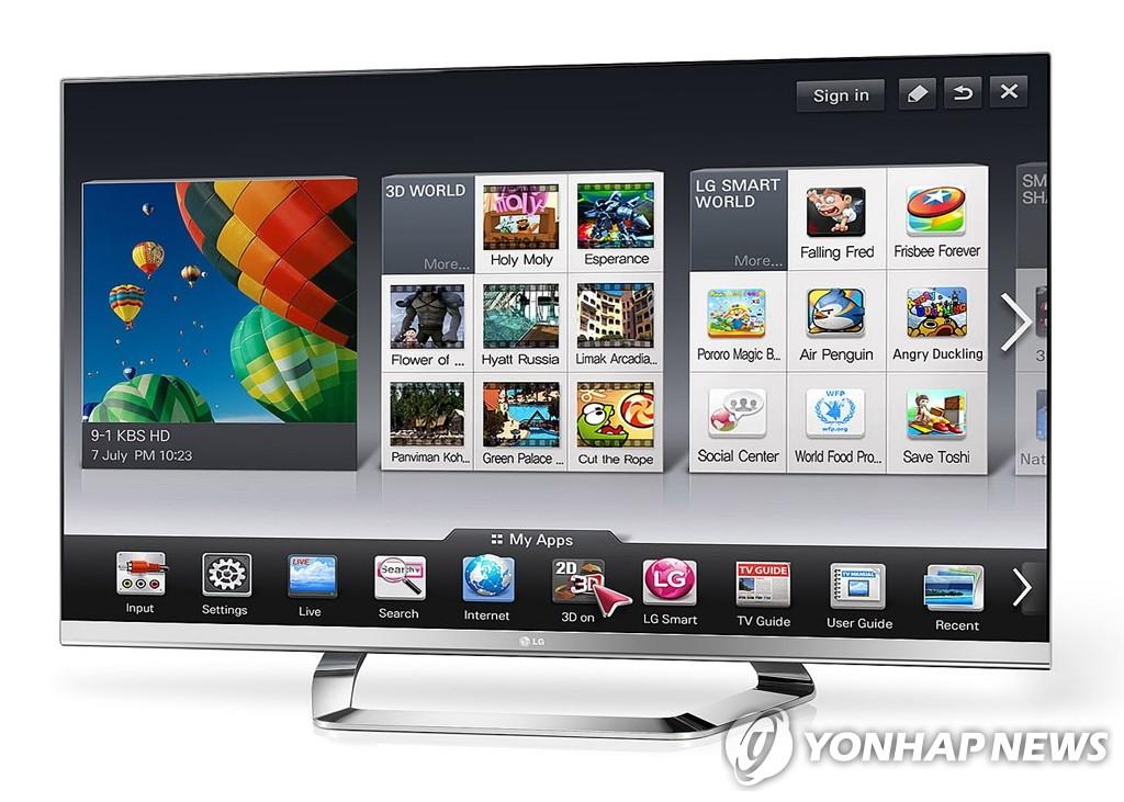 LG电子智能电视应用程序下载破两亿