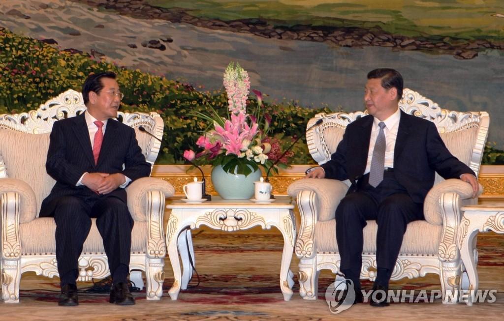 全南道知事朴晙莹会晤中国国家副主席习近平
