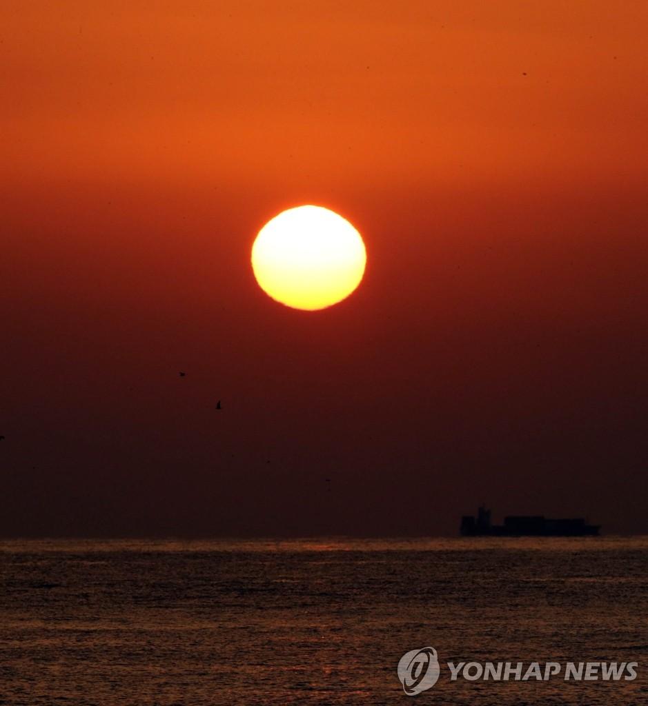 新年的太阳升起
