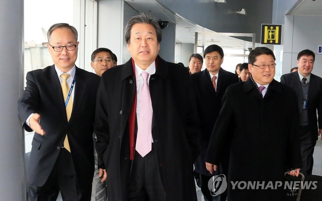 朴槿惠特使团抵达北京