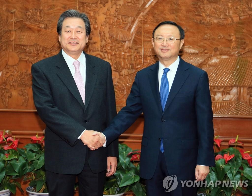 金武星特使会见中国外长杨洁篪
