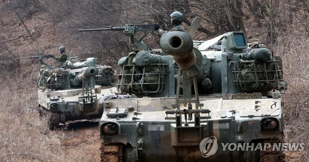 自行火炮参加韩美军演