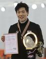 牟太范和李相花蝉联速滑世锦赛男女500米冠军