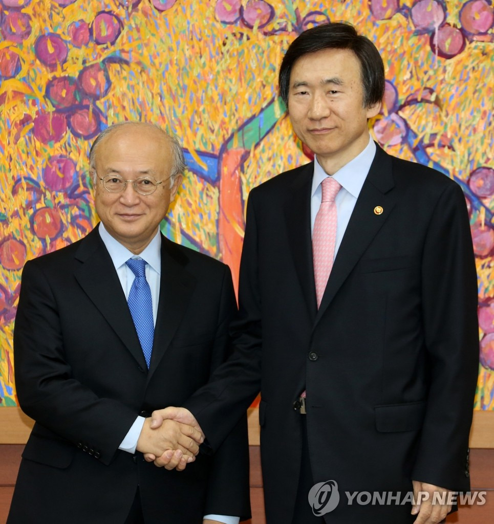 外长尹炳世会见IAEA总干事天野之弥