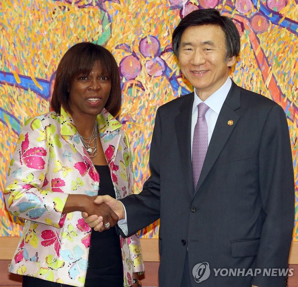 韩国外长会见世界粮食计划署执行总干事
