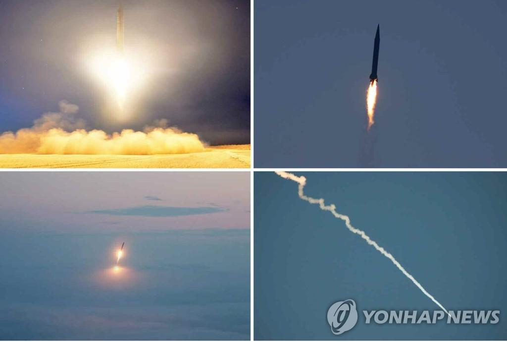 朝鲜试射战术火箭