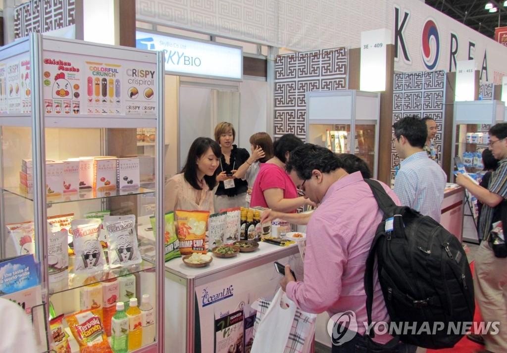 美国纽约夏季食品展上的韩餐宣传馆