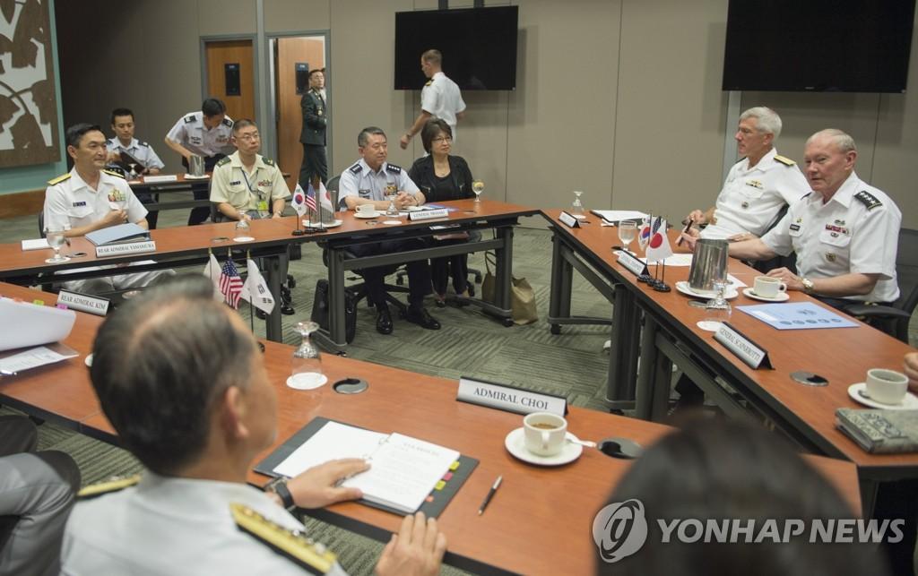 韩美日首次举行总参谋长会议