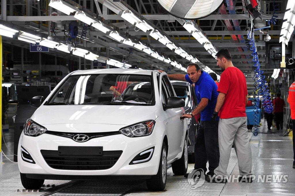 资料图片:现代汽车土耳其工厂 韩联社