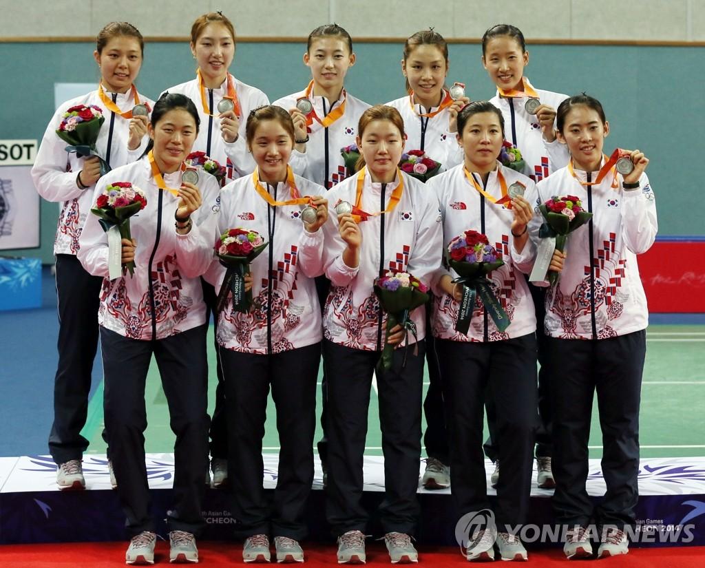 亚运会羽毛球女子团体赛韩国摘银