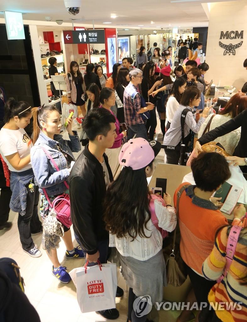 中国游客的韩国行