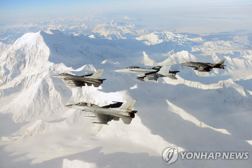 """韩空军参与跨国军演""""红旗阿拉斯加"""""""