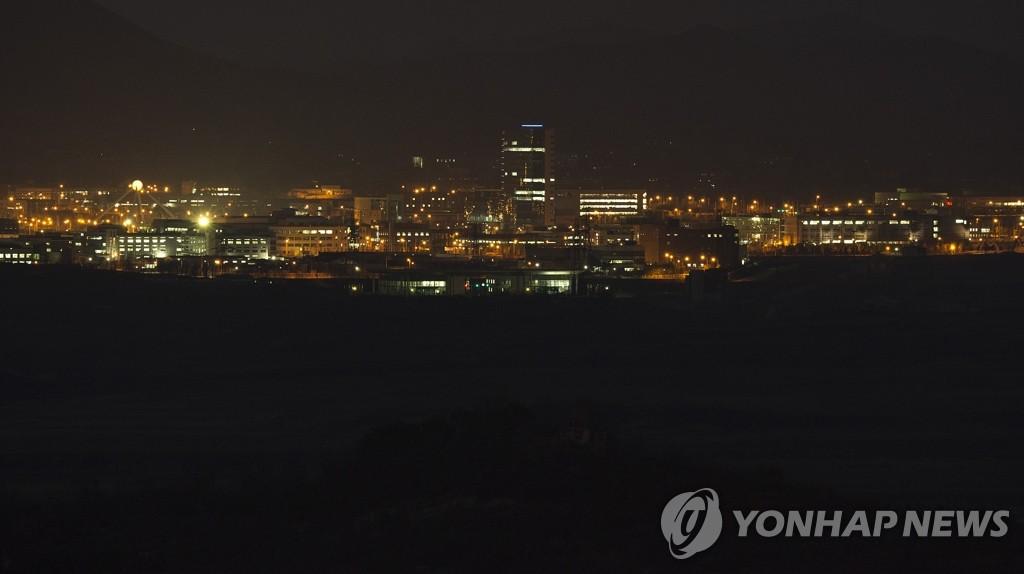 开城工业区的夜景
