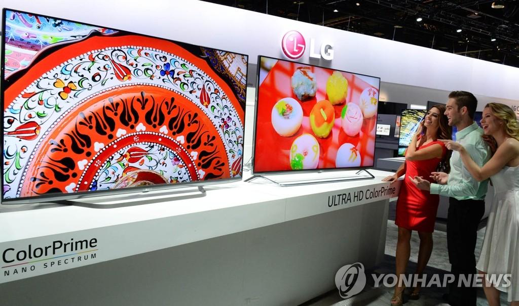 三星LG超高清电视面板全球市场份额之和逾六成