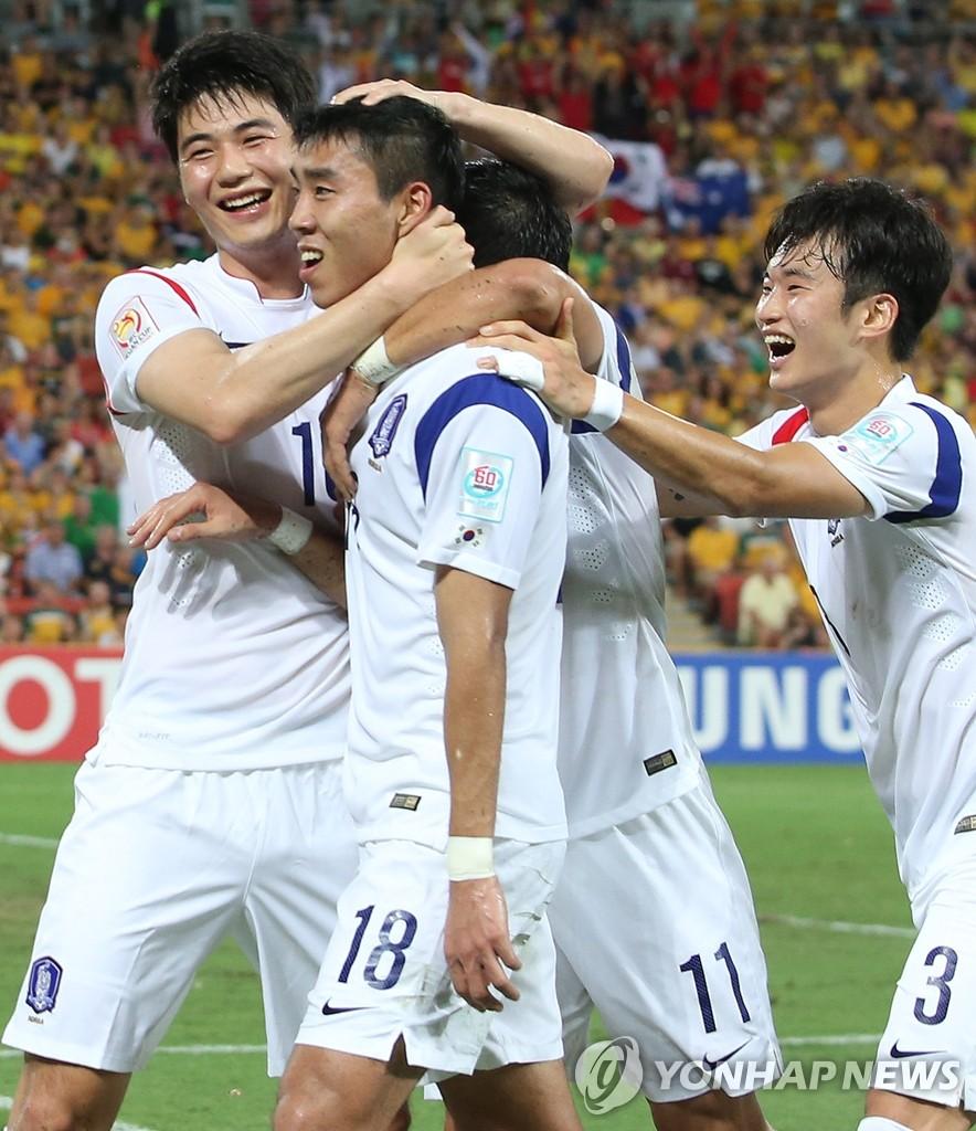 韩国胜澳大利亚挺进亚洲杯八强赛