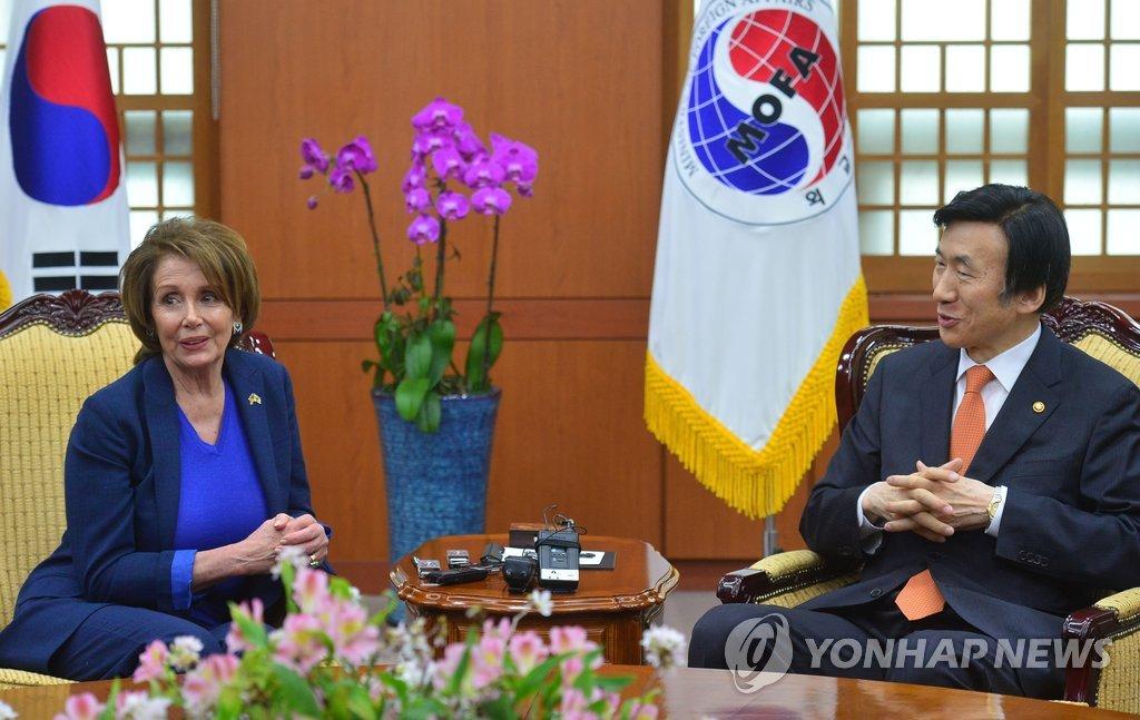 韩外长会见美众议院民主党领袖