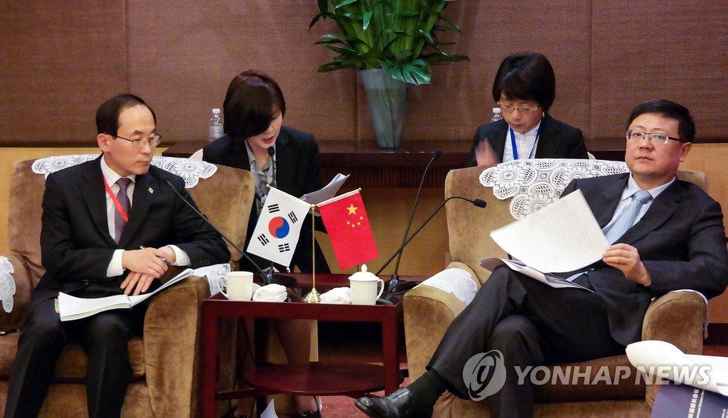 韩中环境部长举行会晤